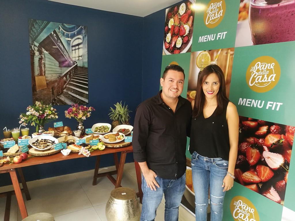 Ejecutivos. Roberto Aliaga Rodríguez, gerente general y Ana Lucia Foronda, gerente de marketing y comercial de Il Pane de la Casa